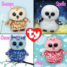 Tell us which of these kooky owl Beanie Boos is your favorite!