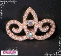 Chaton Coroa de Pérolas e Cristal