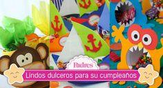 Los dulceros o aguinaldos no pueden faltar en la fiesta de los niños, aquí están varias ideas