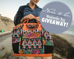 GIVEAWAY!!!!!!!!   1. Follow Nena & Co. on Pinterest www.pinterest.com/nenaandco/     2. Click on contest pin to pin your favorite Nena & Co. weekender bag.    3. On your weekender bag pin tell us where you would travel with your bag.     4.Comment on original pin telling us you entered & share contest pin.      GOOD LUCK!  Contest ends May 5th