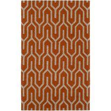 ALL MODERN / Retro Revisited: Mid-Century Rugs / Impression Mandy Hand-Tufted Orange Area Rug