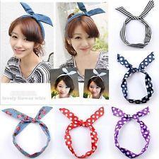 Hot Sale Cute Korea Korean Girls Rabbit Ear Ribbon Chiffon Headband Hair Band
