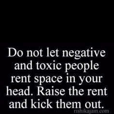 get rid of negative people