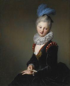 Jean-Baptiste Santerre (Magny en Vexin, 1651-Paris, 1717), Portrait d'une jeune femme avec une lettre, c.1708 ? Huile sur toile, 91 x73 cm, Collection privée