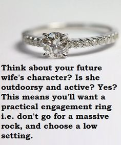 Something to consider before buying the ring!