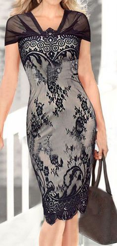 Glamorous Print Design Cap Sleeve Knee Length Dress:  oh to have a waist so I could wear this dress!