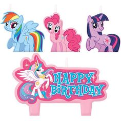 My #little pony #birthday #party cake candles set of 4,  View more on the LINK: 	http://www.zeppy.io/product/gb/2/111643409385/