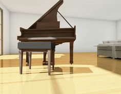 Detail, piano  Archicad&cinema4d render
