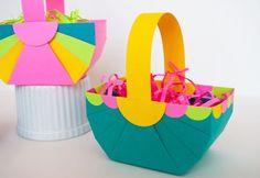 Cestinha de papel dobradura pode ter as cores que você desejar (Foto: merrimentdesign.com)
