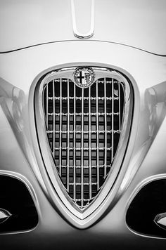 Alfa Romeo photographs, black and white photographs of Alfa Romeos, Alfa Romeo pictures