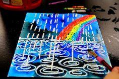 smART Class: Winter Rain Watercolor Resist