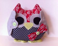 This cute and adorable stuffed owl named Lucky is a great gift for children. Handmade and unique -- it is soft and cuddly. Ready to be every child's best friend. Lucky is a wise owl that likes to hear stories and receive visits at home.
