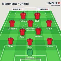 Esta sería la posible alineación del Manchester United.
