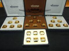 Kundenauftrag, servietten Ringe luxeriös in 24 Karat vergoldet.