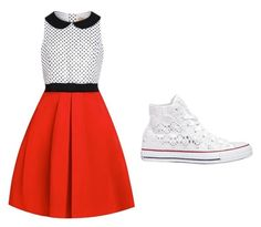 Designer Clothes, Shoes & Bags for Women Skater Skirt, Converse, Shoe Bag, Skirts, Polyvore, Stuff To Buy, Shopping, Shoes, Collection