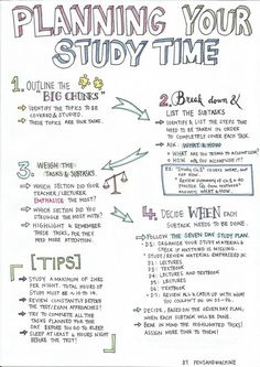 Planning your study time. college study tips, exam study tips, college freshman Study Tips For High School, Life Hacks For School, School Tips, College Study Tips, Tips On Studying, Motivation For Studying, Exam Motivation, High School Hacks, Exam Study Tips