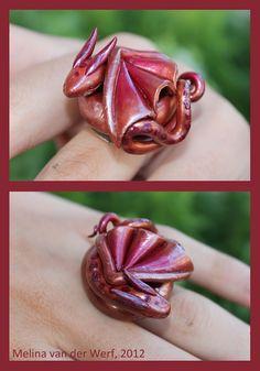 Baby copper dragon ring!