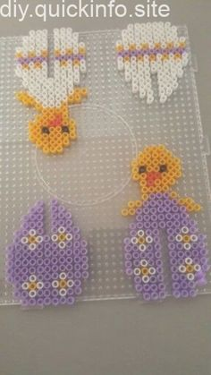 Hama beads Easter egg chicken two different models - Bügelperlen Bead Embroidery Patterns, Pearler Bead Patterns, Perler Patterns, Beading Patterns, Quilting Patterns, Crochet Patterns, Perler Bead Templates, Diy Perler Beads, Perler Bead Art