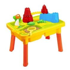 Sandbox Castle Sand and Water Table with Beach Play Set for Kids Best Water Table, Sand And Water Table, Water Tables, Kids Sand Table, Play Table, Sandbox Sand, Kids Sandbox, Beach Play, Beach Toys
