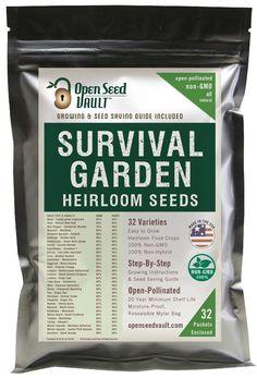 15000 Non GMO Heirloom Vegetable Seeds Survival Garden 32 Variety Pack