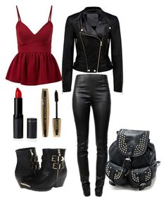 """""""Punk Out"""" by destinee-hogeland ❤ liked on Polyvore featuring Forever New, Alexander Wang, Volatile, L'Oréal Paris, Punk, too and Loving"""