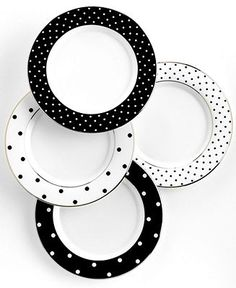 kate spade new york Set of 4 Larabee Road Polka Dot Tidbit Plates - Fine China - Dining & Entertaining - Macy's