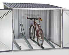 Outdoor Bike Storage, Bicycle Storage, Rack Velo, Garage Velo, Acer Rubrum, Bike Shelter, Garden Storage Shed, Bike Shed, Garage Organization