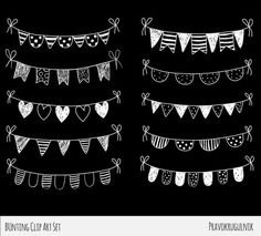 White Flag Flags Clipart, Chalkboard Border Clipart, Doodle Bunting Clip Art, Hand D Chalkboard Border, Chalkboard Doodles, Blackboard Art, Chalkboard Lettering, Chalkboard Designs, Diy Poster, Banner Clip Art, Banner Drawing, Chalk Wall