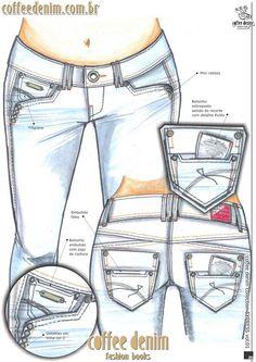Diseño dama Denim Jeans Men, Jeans Pants, Trousers, My Jeans, Shorts, Jeans Drawing, Denim Art, Fashion Sketches, Denim Fashion