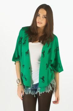 Chiffon Kimono Cardigan, TEAL BLUE, large | fashion | Pinterest ...