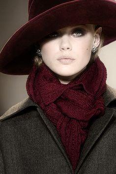burgundy & grey