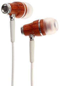 Premium Genuine Wood In-ear Noise-isolating Headphones with Mic #Symphonized