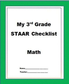 The texas teks for the 3rd grade math staar test this best practice