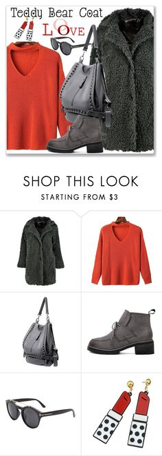 """""""Casual :: Teddy Bear Coat"""" by jecakns ❤ liked on Polyvore featuring Boohoo, casual, teddybearcoat and chokersweater"""