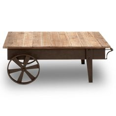 Find it at the Foundary - 45 in. Metal and Wood Coffee Table