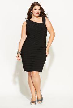 Black one shoulder dresses plus size