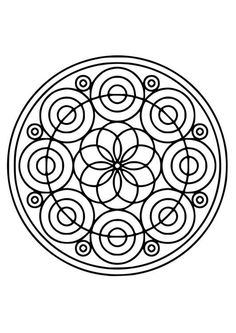 Coloring page mandala21 - coloring picture mandala21. Free coloring sheets to print and download. Images for schools and education - teaching materials. Img 19520.