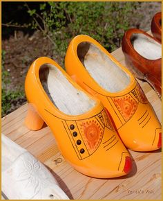 Traditional #clogs for the modern woman. #woodenshoes #Holland