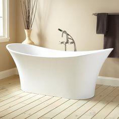"69"" Annabella Acrylic Double-Slipper Tub - Freestanding Tubs - Bathtubs - Bathroom"