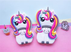 Brand New Cute 3D Rainbow Unicorn Horse Cartoon Soft Silicone Mobile Phone Cases Cover For iPhone 5 5G 5S SE 6 6G 6S 6Plus 5.5