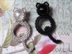 Beading pattern 'Kitty Cat' DIY seedbead di TrinketsBeadwork