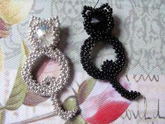 Beading pattern 'Kitty Cat' DIY seedbead by TrinketsBeadwork
