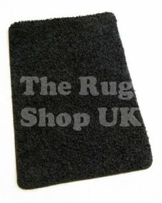 Aquanova Black Shaggy Rug - Buy Excellent Quality Rugs At Sale Price - The Rug Shop - (www.therugshopuk.co.uk)