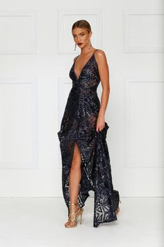 Navy Rosella Gown – Alamour The Label