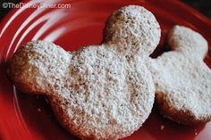 """DISNEYLAND'S CAFE ORLEANS OR WALT DISNEY WORLDS PORT ORLEANS FRENCH QUARTER RESORT MICKEY BEIGNETS RECIPE: ~ From: """"Disney Diner.com"""" ~ Posted On: April 05, 2012.~ Yield: (4 Dozen). *** These pastries are easy to make and will surely become a favorite snack and/or breakfast treat. Enjoy!"""
