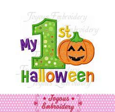 My First Halloween 01 Applique Embroidery Design