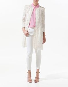 GATHERED GUIPURE LACE COAT - Woman - New this week - ZARA $169.00 USD