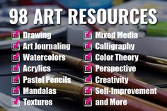 Online Art Classes by top online art instructors at a discount. Enter the Art Giveaway for a chance to win thousands of dollars of online art courses. Painting Courses, Art Courses, Close Up Art, Cat Online, Online Art Classes, Pastel Pencils, Food Drawing, Infant Activities, Art Journal Inspiration