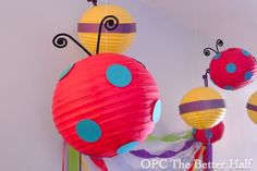DIY Lady Bug and BumbleBee Lanterns for Bug Themed Parties. - OPC The Better Half