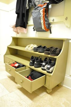 shoe cubby with drawers